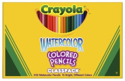 Crayola 68-4240 Crayola Watercolour Wood Pencil Classpack, 3.3 mm, 12 Asstd Clrs, 240 Pncls/Box by Crayola