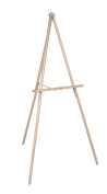 MasterVision Lightweight Wood Display Easel, 3-Leg, 160cm High, Natural