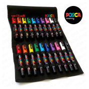POSCA Colouring - PC-5M and PC-3M - Essential Set of 20 - In Limited Edition Canvas Wrap
