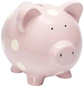 Elegant Baby Classic Piggy Bank, Pastel Pink