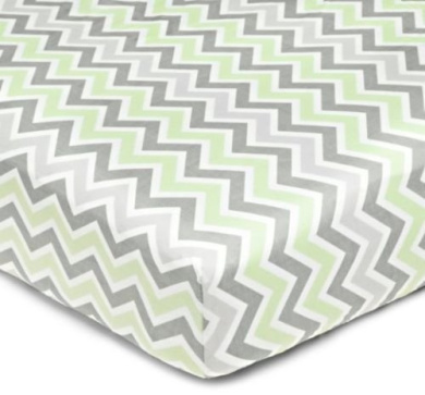 Baby Bedding Toddler 100% Cotton Percale Fitted Crib Sheet Elastic Smooth Zigzag
