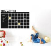 SANNYSIS 60x92 Month Plan Calendar Chalkboard Blackboard Vinyl Wall Sticker