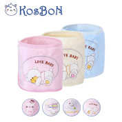 Kosbon Pack Of 3 Pure Cotton Double Layer Cute Bear Pattern Infant Umbilical Cord,Infant and Child Umbilical Navel Hernia Truss Belt.