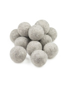 Wool Dryer Balls, Natural Fabric Softener 12pk - Grey