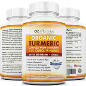OZ Formulas Premium Organic Turmeric Complex with BioPerine (Black Pepper)
