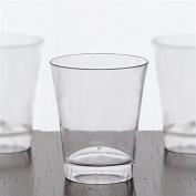 Clear Toast Of Jubilation Round 60ml Disposable Shot Glass