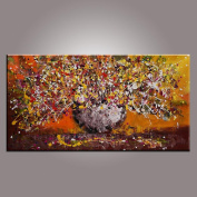 Flower Painting, Original Painting, Large Wall Art, Abstract Painting, Wedding Gift, Abstract Wall Art, Modern Art, Abstract Art, Canvas Art, Canvas Painting, Large Art, Canvas Wall Art