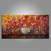 Flower Painting, Wedding Gift, Canvas Art, Canvas Painting, Large Art, Abstract Wall Art, Modern Art, Original Painting, Large Wall Art, Abstract Painting, Abstract Art, Canvas Wall Art