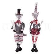 Fabric Figures Ski Fox Dolls, 60cm ., Assorted 2