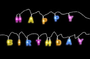 """13 LED """"HAPPY BIRTHDAY"""" Letter Shaped Battery Operated String Lights by RECESKY 1.7m Birthday Party Decor Supplies for Indoor, Home, House, Decorative Ambience, Birthday Decorations"""