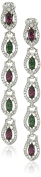 Ben-Amun Jewellery Long Statement Crystal Drop Earrings