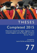 Theses Completed 2015