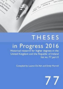 Theses in Progress 2016