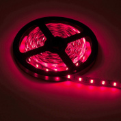 BTF-LIGHTING 16.4ft 5 metres Red Non-Waterproof SMD 5630 led strip Dc 12v 300 LED Flexible Strip Light Decorative LED tape