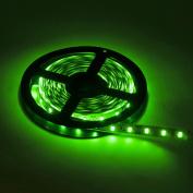 BTF-LIGHTING 16.4ft 5 metres Green Non-Waterproof SMD 5630 led strip Dc 12v 300 LED Flexible Strip Light Decorative LED tape