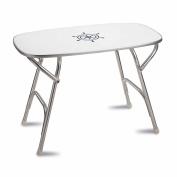 FORMA MARINE Dinner Deck Table 6.1m x 11m x 8.2m Boat Table, Folding, Rectangular, Anodized, Aluminium, Model M250H