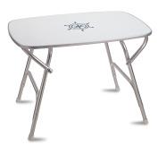 FORMA MARINE Dinner Deck Table 7m1.8m x 10m1.8m x 8.2m Boat Table, Folding, Rectangular, Anodized, Aluminium, Model M450H