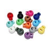 Pixnor 25pcs Cord Lock Round Ball Toggle Stopper Plastic