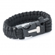Emergency Military Survival Bracelet Whistle Wristband Rope Bracelet