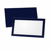 Navy Blue Place Cards - Flat or Tent Style - 10 or 50 Pack