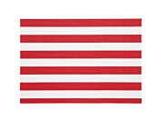 Cabana Stripe Indoor Outdoor Placemats Red Set Of 4