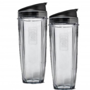 2 Pack 950ml Cup with Sip & Seal Lids for Nuti Ninja,Nutri Ninja Auto-iQ 1000w Replacement Parts Cup