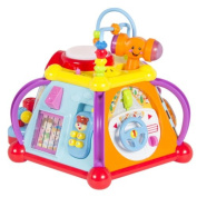New Baby Toy Musical Activity Cube Play Centre with Lights,15 Functions & Skills