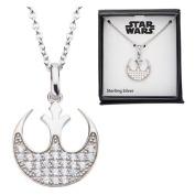 Star Wars Rebel Symbol Bling Sterling Silver Necklace