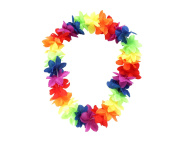 Rainbow Colourful Party Floral Flowers Necklace Lei Garland