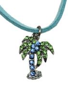 Sequinced Palm Tree Necklace