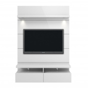 Manhattan Comfort 24952 Cabrini 1.2 Floating Wall Theatre Entertainment Centre, White Gloss