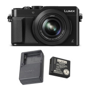 Panasonic LUMIX LX100 4K & Leica Lens (Black) with Panasonic DMW-ZSTRV Travel Pack Battery & Charger