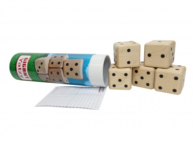 Funmate Giant Yatzy Game,Wooden 3D Cube Dice Puzzle,Classic Yahtzee