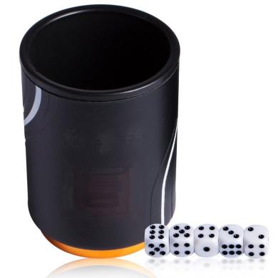Magic Vosom Magic Vosom Black Professional Dice Cup Shaker with 5 Dice