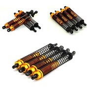 130mm Gold Alloy Dampers (4) - Oil Shocks for 1:10 Rc Crawlers Suit Axial