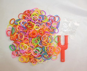 600 Neon Loom Bands With Mini Loom Tool, Clips And Hook Tool [Toy]