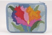 Coin Purse - Watercolour Poppy - Needlepoint Kit
