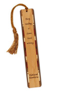 Nathaniel Hawthorne Quote Reading- Writing- Engraved Wooden Bookmark with Tassel