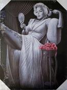 DGA Day of the Dead Marilyn Monroe Classic Stretched Wood Frame Canvas Wall Art 30cm x 41cm - Sitting Pretty