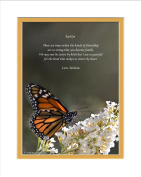 "Personalised Friend Gift. Butterfly Photo with ""There are times when the bonds of friendship are so strong that you become family. We may not be sisters by birth but I am so grateful for the bond that makes us sisters by heart."" 8x10 Double Matted. Spe .."