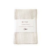 Nawrap 100 % Organic Cotton Baby Face Cloth, Ivory