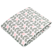 Kushies Baby Fitted Change Pad Sheet, Grey Petal
