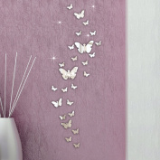Ussore 30PC Butterfly Combination 3D Mirror Wall Stickers Home Decoration DIY Wall Stickers Decals living room Stick Stickers Decals