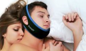 Anti Snore Chin Strap - The Original Anti Snoring Jaw Support - Stop Snore Solution - Sleep Better Aids - Snore No More Devices - Sleeping Relief - Alternative to Mouthpieces, Nose Strips and Nasal Dialators