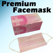 50 PCS 3-Ply Pink Premium Dental Surgical Medical Disposable EarLoop Face Masks