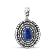 Sterling Silver Lapis Interchangeable Pendant Enhancer