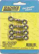 Seachoice 28811 EYE Strap-ss-1/2 (4/card) EYE Strap