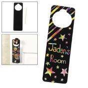 12 Magic Colour Scratch Doorknob Hangers - Crafts for Kids & Magic Scratch
