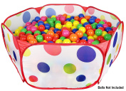 Click n' Play Playpen Ball Pit, 100cm by 50cm with Zippered Storage Bag for Indoor and Outdoor Use, Holds up to 1000 balls