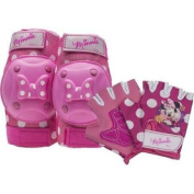 Bell Sports Girls' Pink Minnie Mouse Protective Gear Pad Set, Protects Elbows, Knees And Hands, For Kids  .   And Up